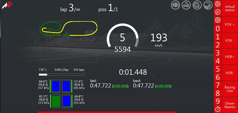 simracing dashboard, panel compatible con tablet/portatil gratis Acdash_v1_5
