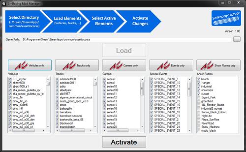 SimRacing Mod Manager