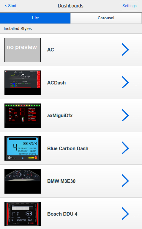 Dashboard - SimRacing-Tools de